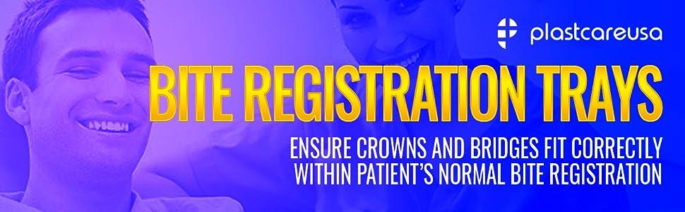 plastcare bite registration impression tray crowns bridges dentist dental
