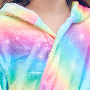 Flannel kids robe