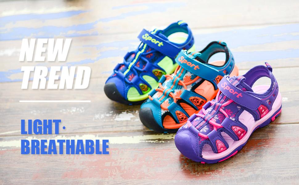 3e88123136ec3 BODATU Boys' and Girls' Summer Outdoor Beach Sports Closed-Toe  Sandals(Toddler/Little Kid/Big Kid)