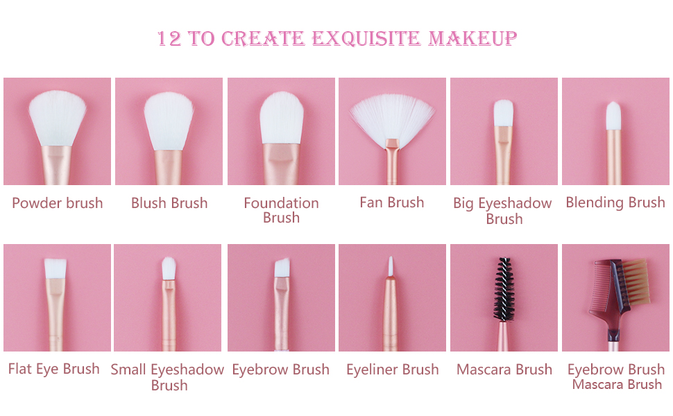 eye brushes makeup brush set 12 pink lades makeup brushes eyeshadow brushes eye brush set