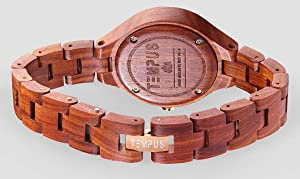 Thin wood band with Stainless Steel Clasp