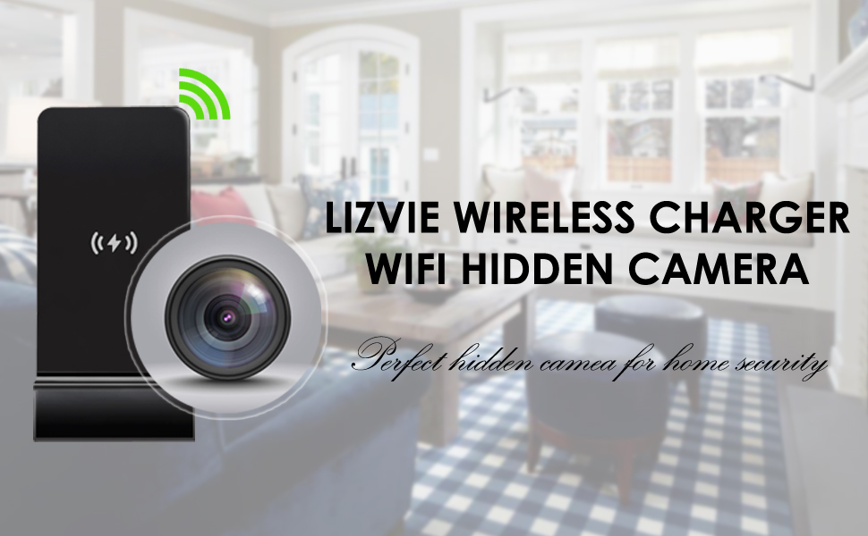 1080P wireless charger camera
