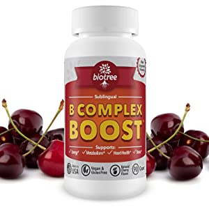 B12 Vitamin B Complex Boost Supplement energy cherry flavor sublingual vegan metabolism heart health