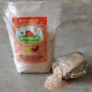 Poultry dust bath nesting box freshener chicken coop odor eliminator supplement Redmond clay