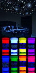 neon nights Glow in the Dark | Luminescent | Phosphorescent | Self-Luminous Paint by neon nights