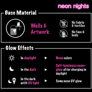 glow paint neon nights