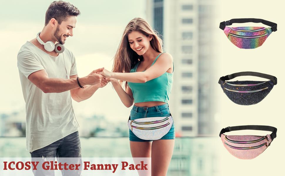 glitter fanny pack