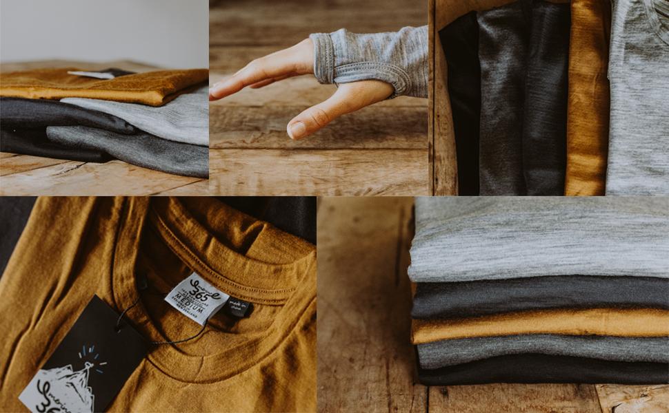 new zealand merino wool longsleeve thumbholes 365