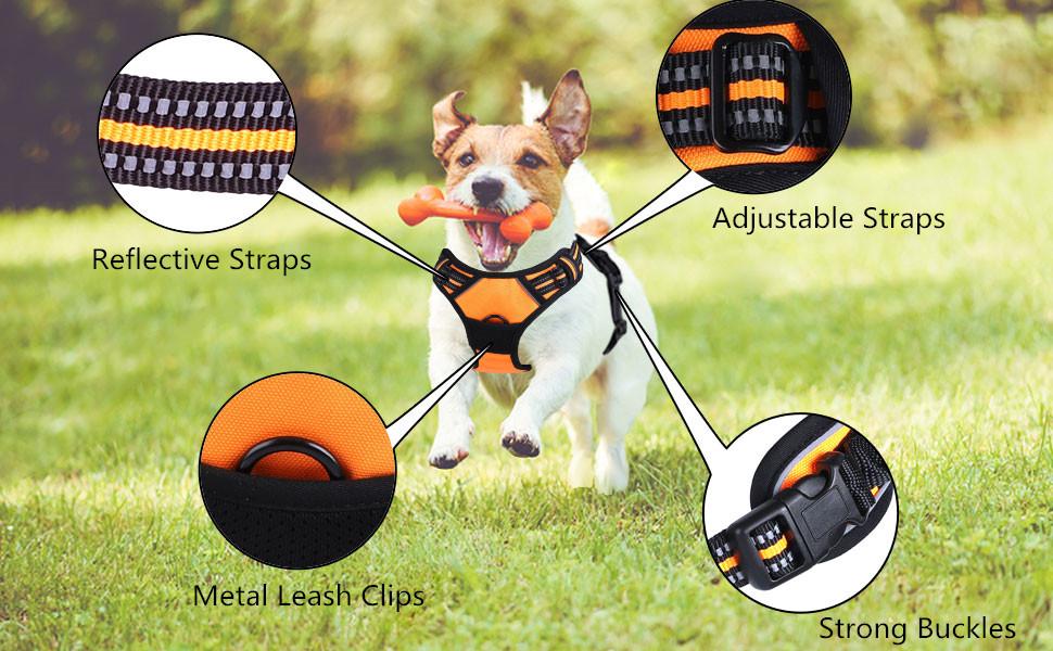 Dog Harness No-Pull Pet Harness Adjustable Pet Vest