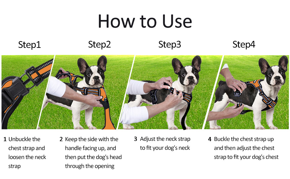 Dog Harness No-Pull Pet Harness Adjustable Pet Vest Reflective Vest