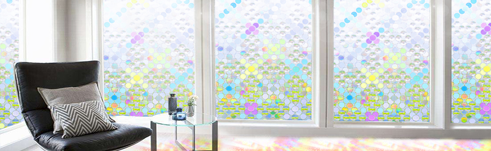 stained glass window film sun block out window film 3d privacy window film waterproof privacy window