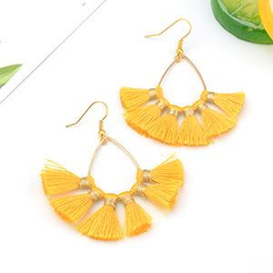 Dcfywl731 Bohemian Circle Colorful Beaded Earrings Layered Tassel Earrings Bohemian Dangle Drop Earrings for Women Girls