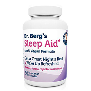 dr eric berg sleep aid vegan formula L-tryptophan stress rejuvenator