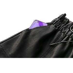 front side pockets