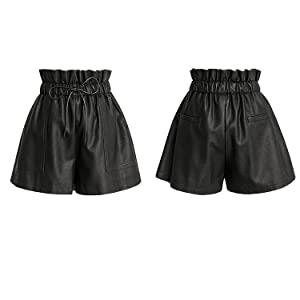 faux pu leather shorts