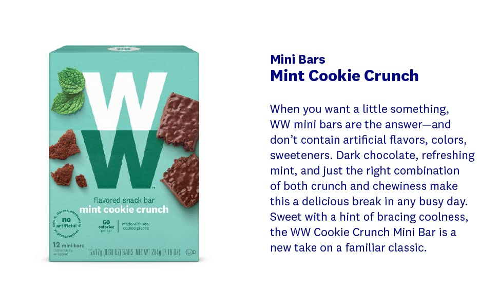 mint cookie crunch mini bar, thin mint, cookie, snack, protein, healthy, weight loss, ww, skinny