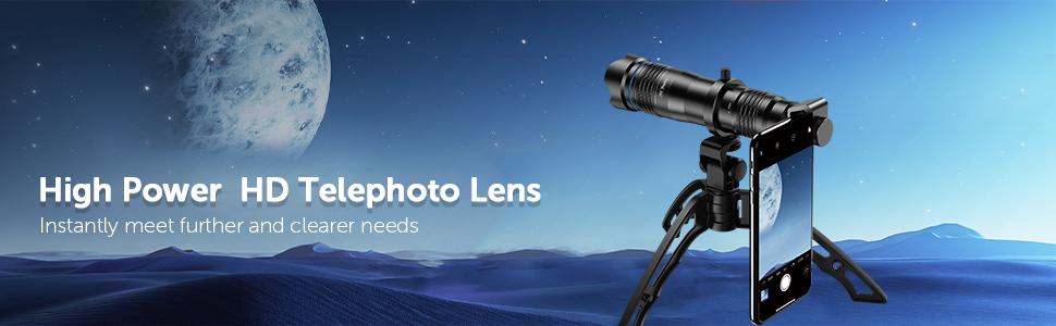 36x telephoto lens