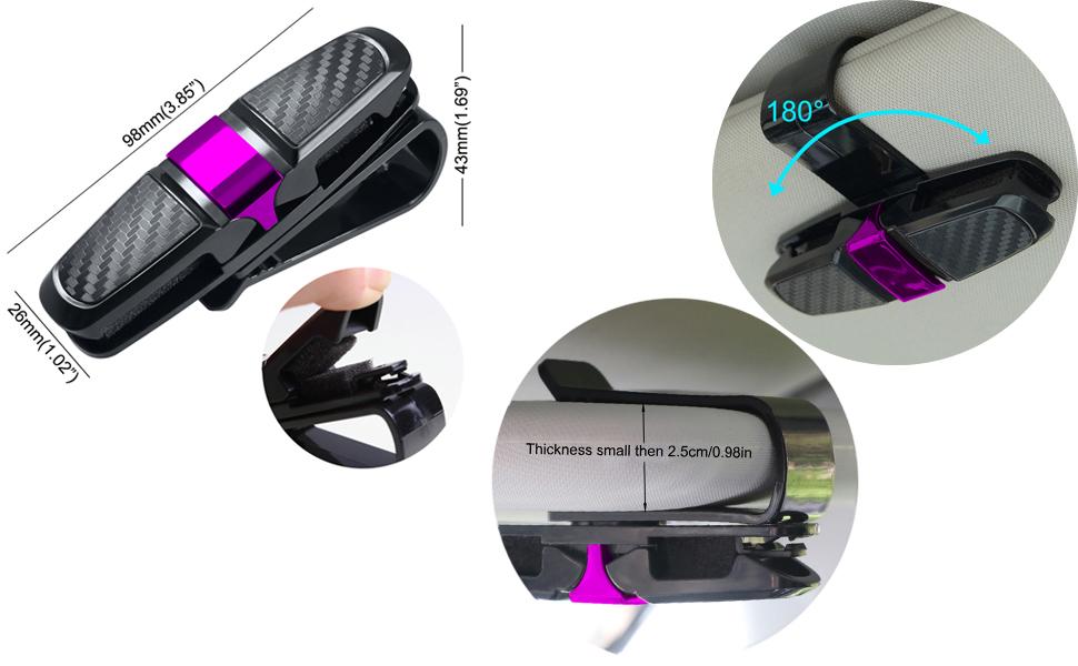 Amazon.com: Soporte para lentes, Rosa: Automotive