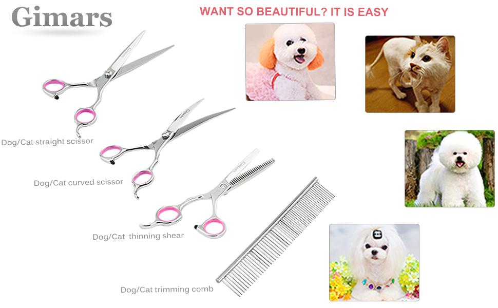 gimars dogcat grooming kit set for trimming pet hair