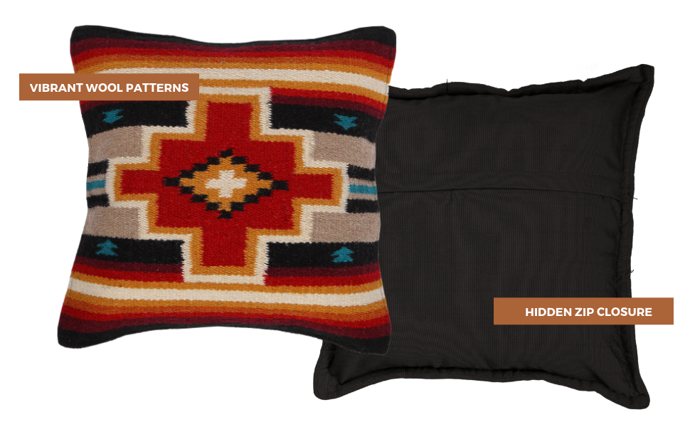 Southwestern Pillow Cover Tan Native American Pillow Cover Harding Tonal Wool Pillow Cover