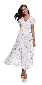 9cd89302affd Floating Time Women's Floral Print Short Sleeve Maxi Wrap Dress · Floating  Time Women's Floral Print Strap Midi Dress · Floating Time Women's Floral  Print ...