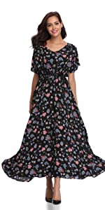 f20c24bcdf52 Floating Time Women's Floral Print Short Sleeve Midi Wrap Dress · Floating  Time Women's Floral Print Strap Midi Dress · Floating Time Women's Floral  Print ...