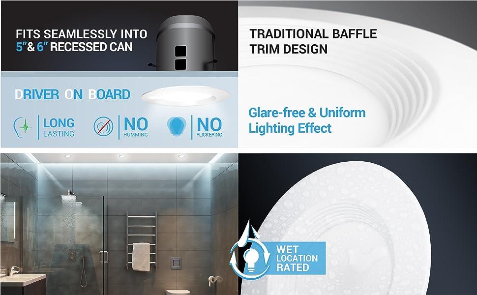 Amazon.com: Parmida - Foco LED empotrable (intensidad ...