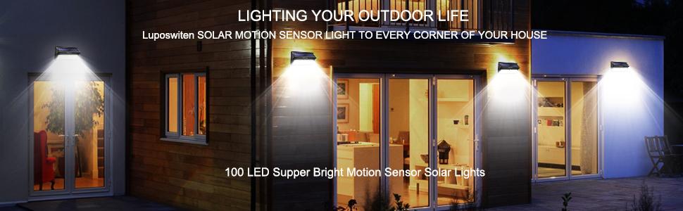 Bright Motion Sensor Solar Lights