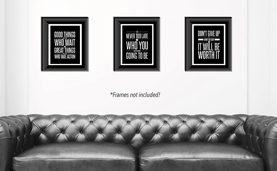 Amazon.com: Don\'t Give Up 3 Poster Set Motivational Inspirational ...