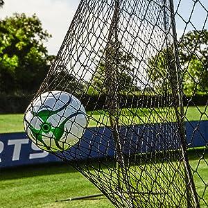"Football Soccer Volley-ball Basket-ball Net Barrière 4/"" Nylon #18 Filet 45/' X 9/'"