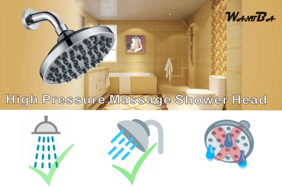 cleaning rain shower head. 6 Inches High Pressure Rainfall Massage Shower Head  Can Be Disassembled To Clean The Nozzles WantBa ShowerHead