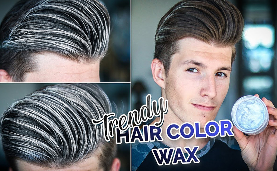 Amazon Com Hair Color Wax Wash Out Hair Color Temporary Hairstyle Cream 4 23 Oz Hair Pomades Natural White Hair Gel For Men And Women White Beauty