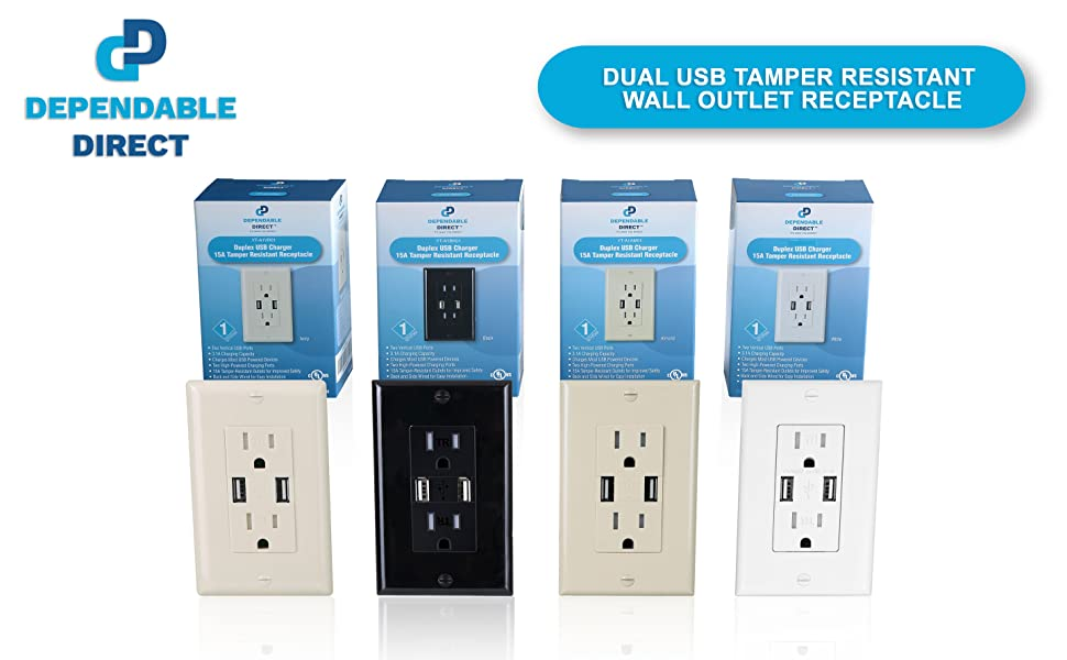 Dual USB Charger Power Outlet