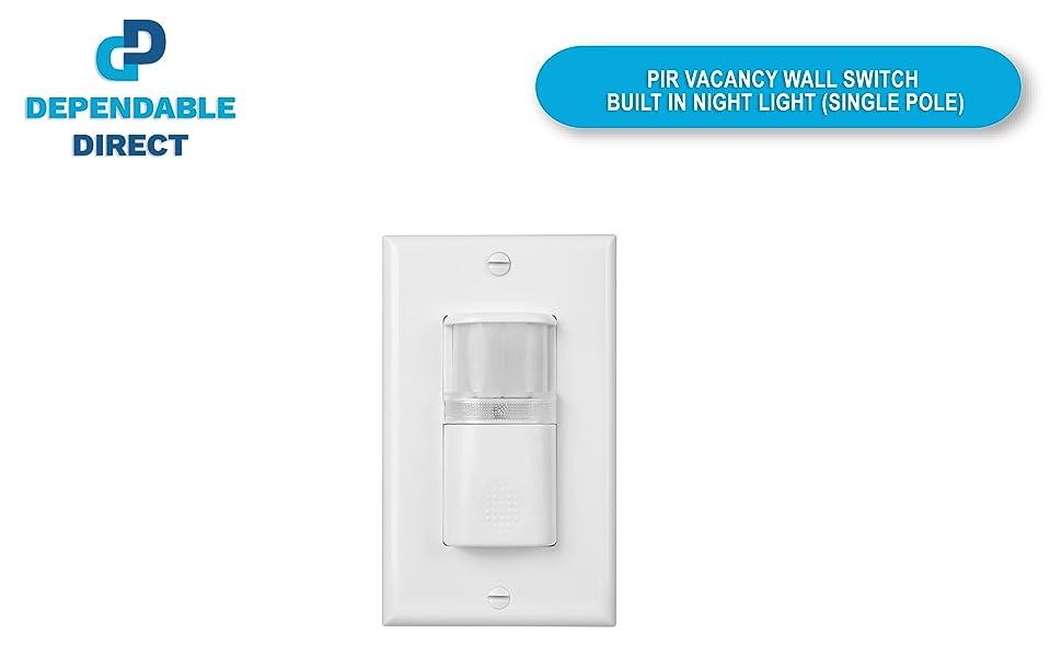 Motion Sensor, Wall Switch, Night Light
