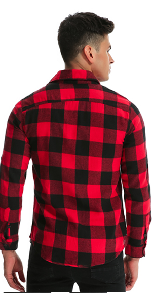 aa7e3daf171 MODCHOK Men  Flannel Plaid Shirt Long Sleeve Check T Shirt Button ...