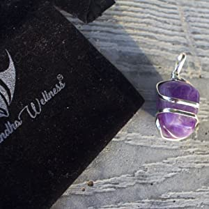 Amethyst Balance of Body and Mind Healing Energy Bar Necklace   Crown Chakra  February Birthstone  Earthy Friendly Eco Fashion Gift