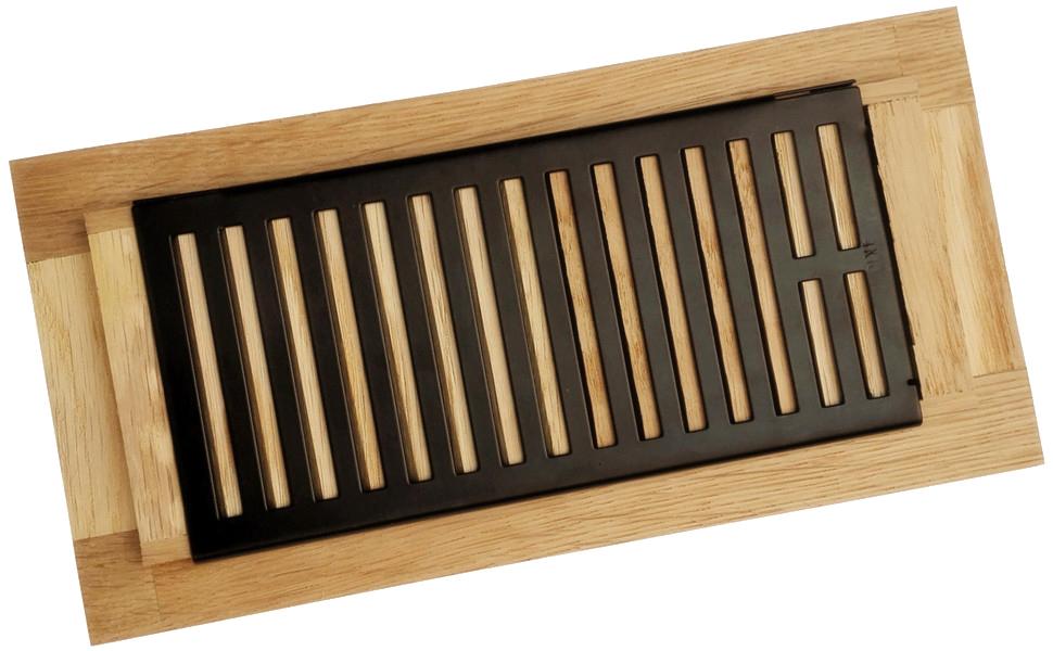 Homewell White Oak Wood Floor Register, Drop in Vent with ...