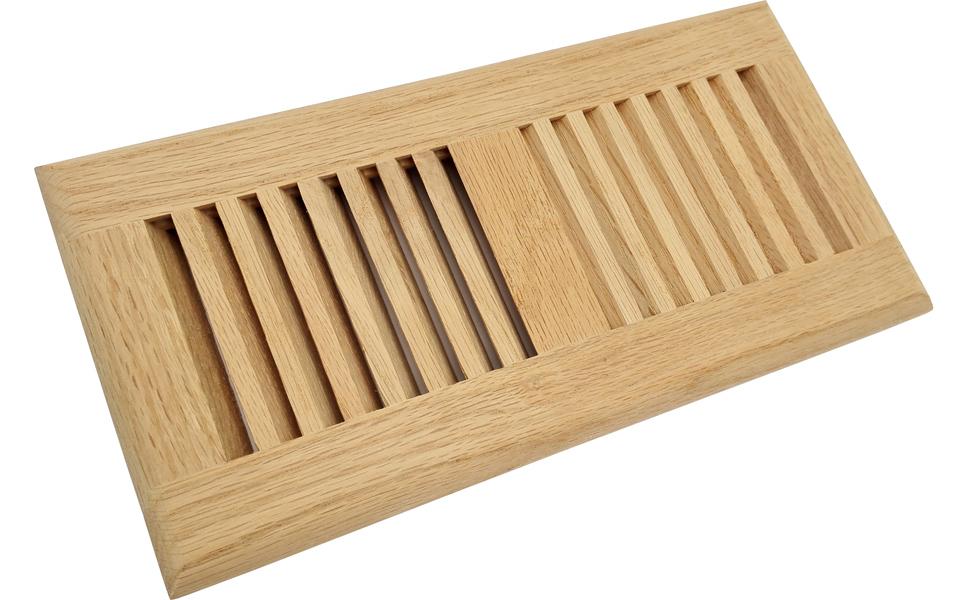 Homewell Red Oak Wood Floor Register Vent, Drop in Vent ...