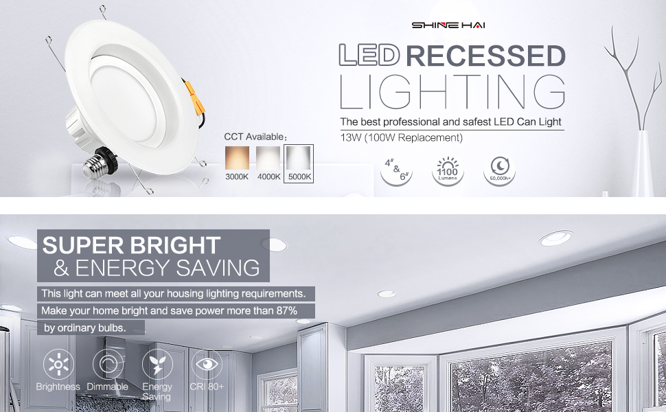SGL 6 Inch Dimmable LED Downlight, 13W (100W Replacement
