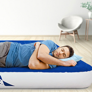 enerplex queen air mattress inflatable air bed guest bed spare bed wireless pump