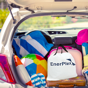enerplex air mattress carry bag travel vacation spare bed pack compact durable