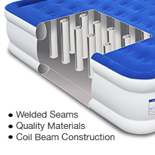 enerplex double high airbed coil beam construction welded seams high quality material puncture proof