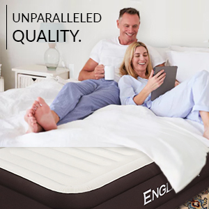 englander inflatable air bed double high raised twin size brown bed spare guest blow up bed