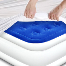 enerplex raised air bed bed sheet compatible works with regular sheets high profile air mattress