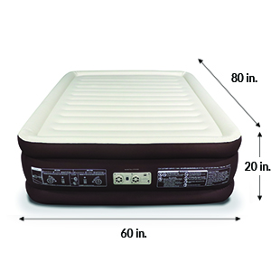 englander queen size raised airbed dimensions