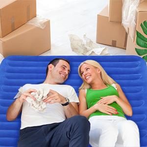 enerplex air bed air mattress space saving rechargeable pump