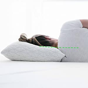 Properly aligned with the coop memory foam pillow