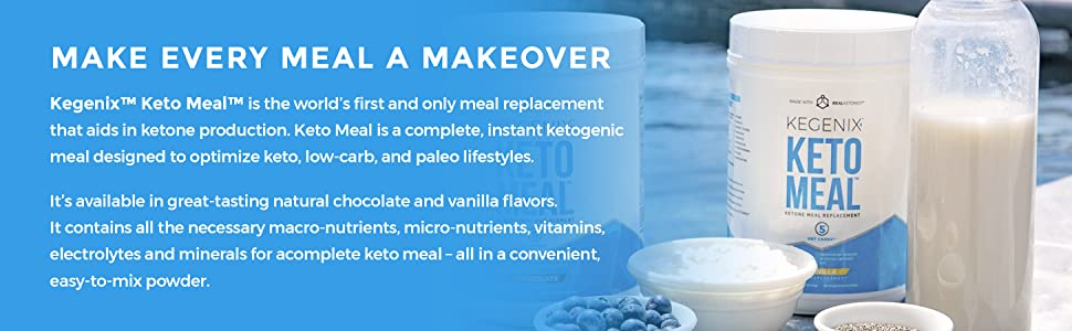 meal replacement shake keto production ketogenic low carb paleo chocolate and vanilla macro nutrient
