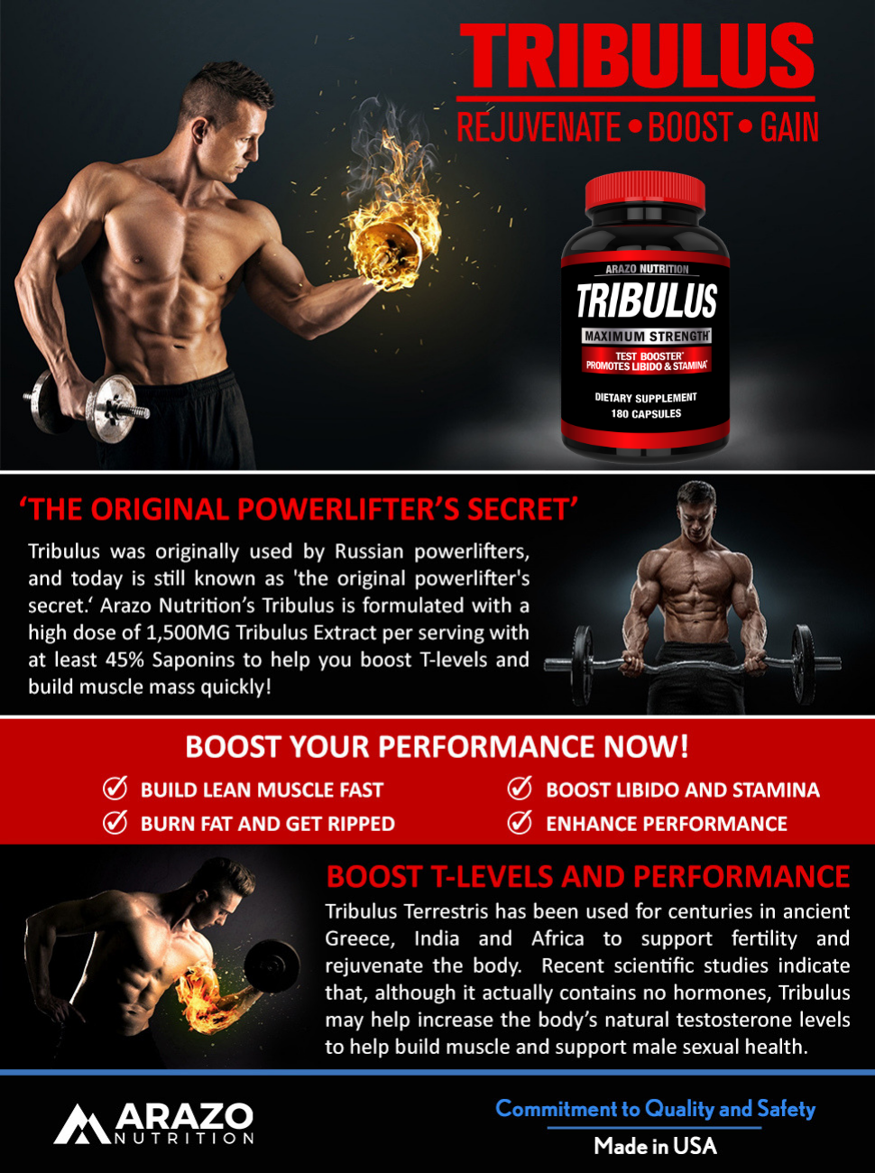 Amazon com: Tribulus Terrestris Extract Powder - Testosterone