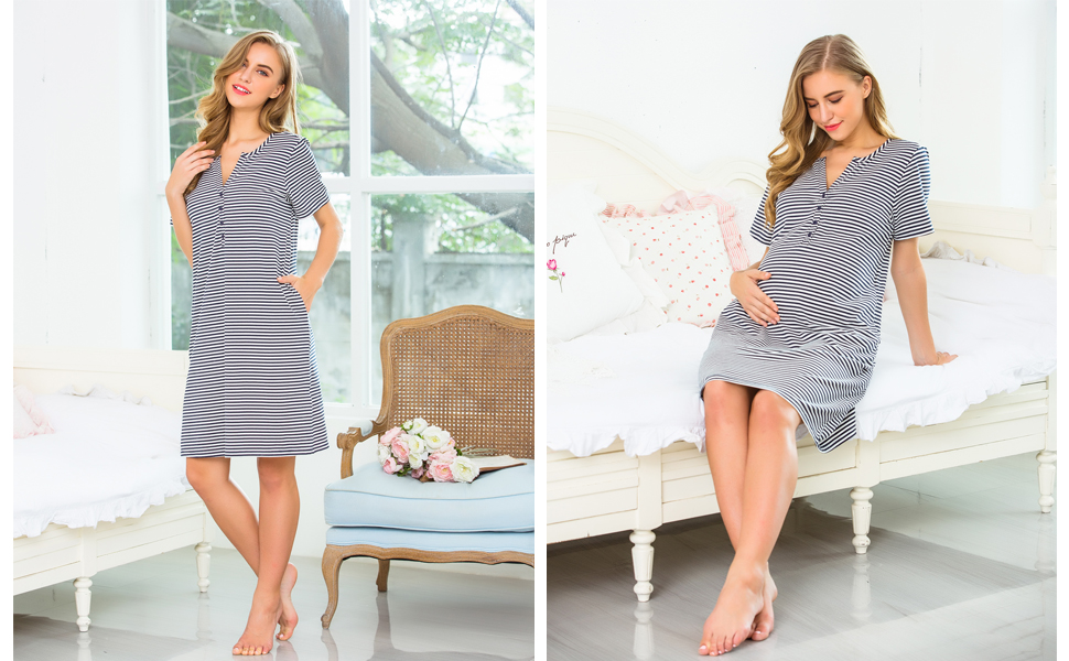 3 in 1 Labor/Delivery/Nursing Hospital Gown Maternity, Baby Shower Gift, Hospital Bag Must Have
